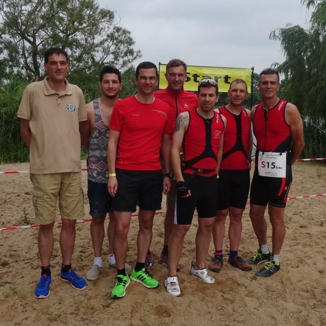 Moret-Triathlon 2015 - TVS Team vor dem Start