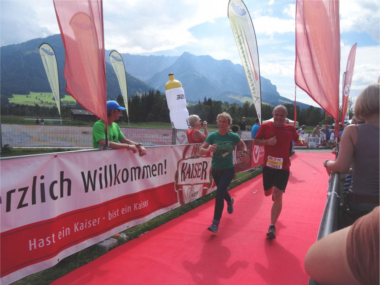 """Challenge Walchsee """"Schweinheimer Elf"""" Zieleinlauf TVS Triam Team"""