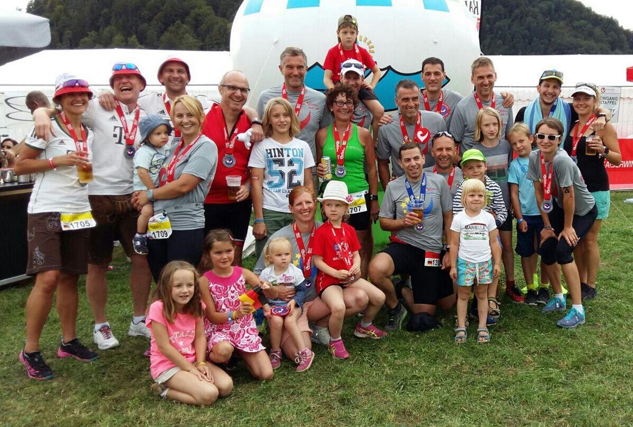 Die Finisher des TV Schweinheim bei der Challenge Walchsee 2016