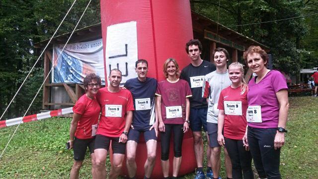Gruppenbild vor dem Lauf