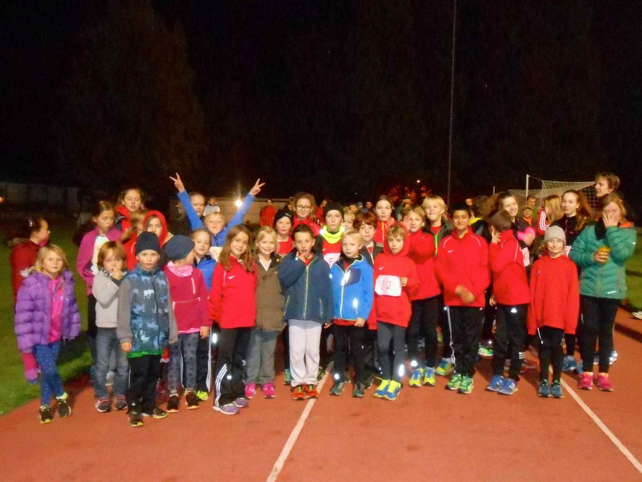 Saisonabschluss Leichtathletiktraining TV Schweinheim Oktober 2015