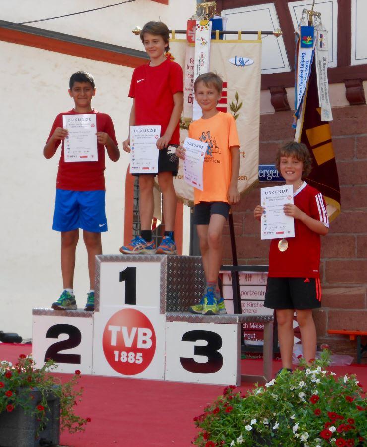 TVS Leichtathletik beim Dreikampf in Bürgstadt 2016