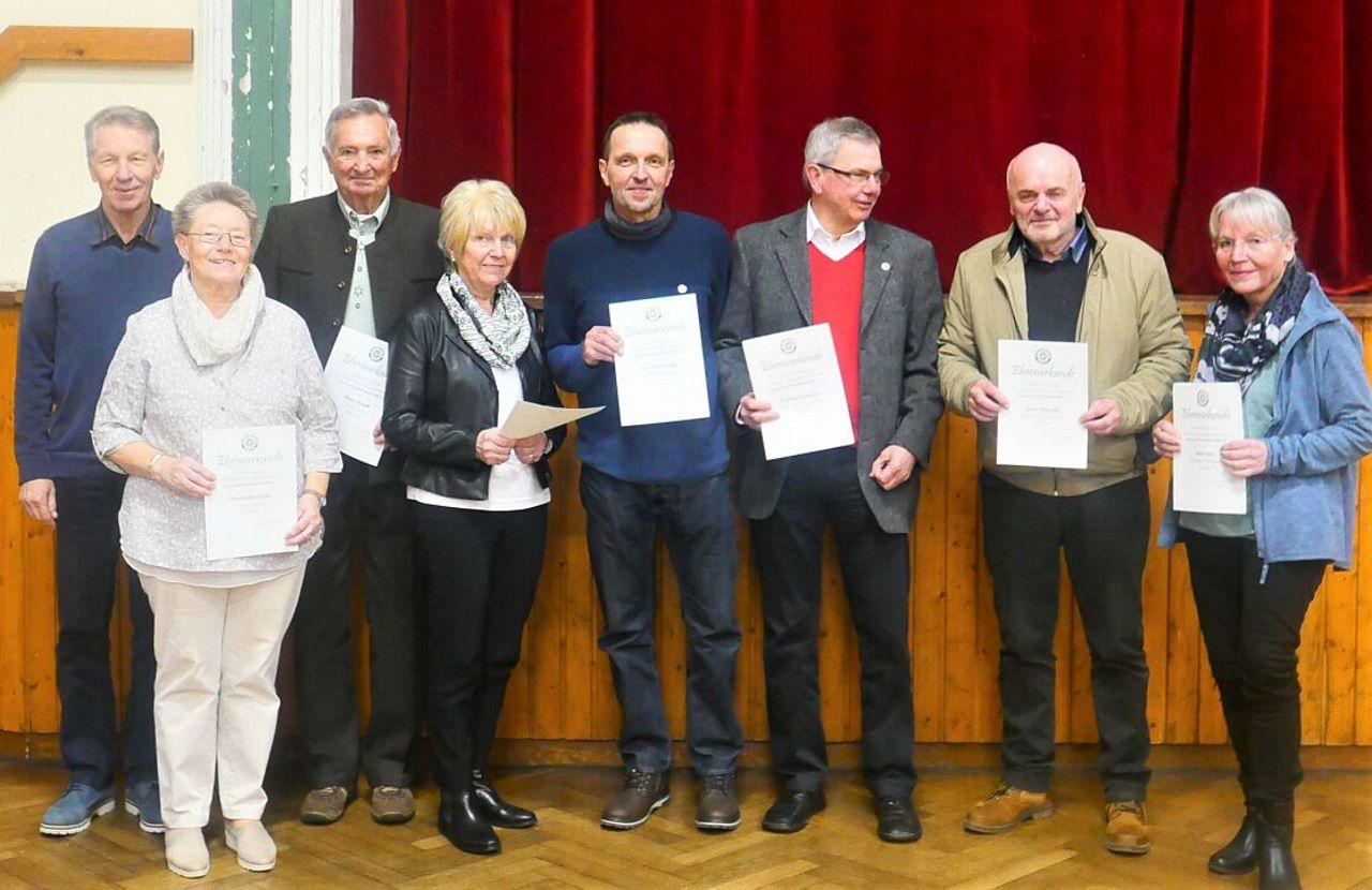 TV Schweinheim - Mitgliederehrung in der Mitgliederversammlung am 06.03.2020