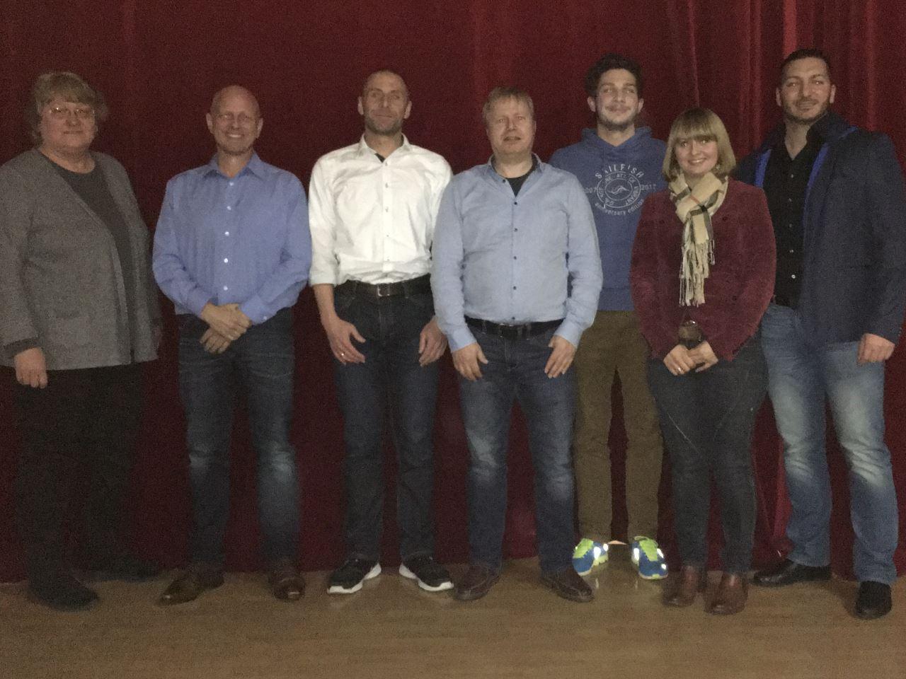 Mitgliederversammlung 2017: Der neue Vorstand des TV Schweinheim