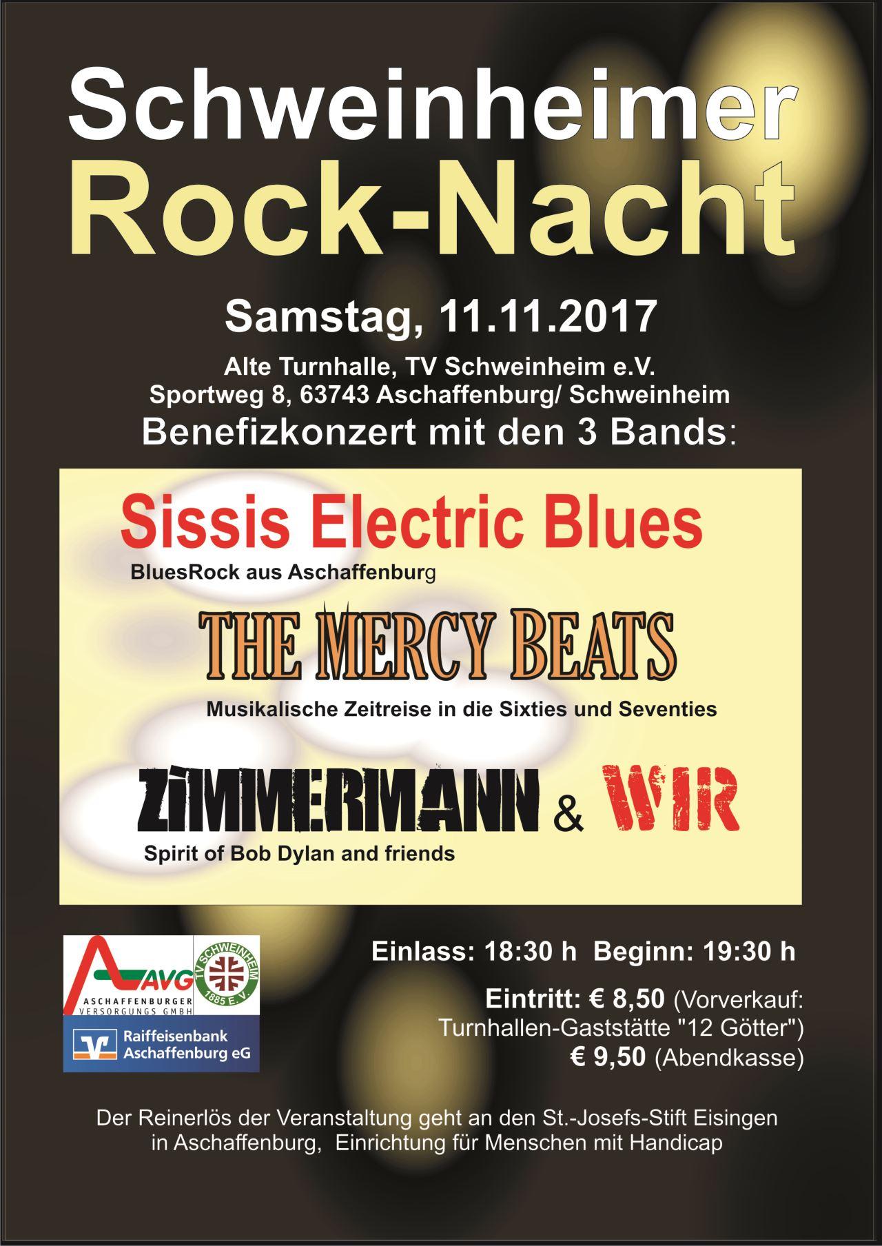 Plakat Schweinheimer Rocknacht 11.11.2017