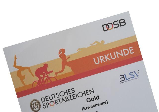 Sportabzeichen-Urkunde