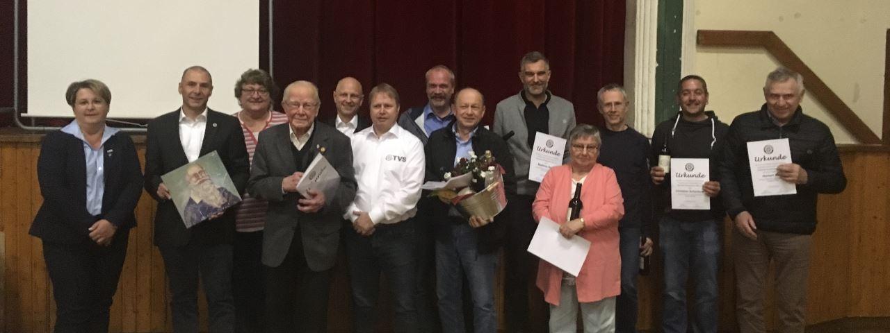 Mitgliederehrung beim TV Schweinheim in der Mitgliederversammlung 2019