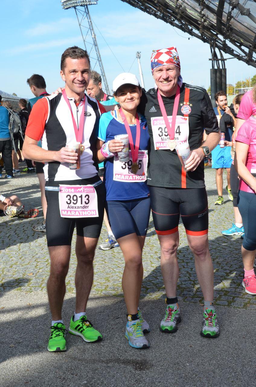 München Marathon im Ziel