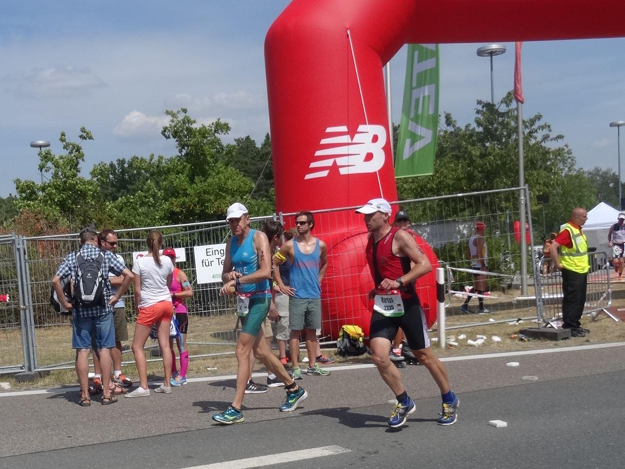 Challenge Roth Markus auf der Laufstrecke