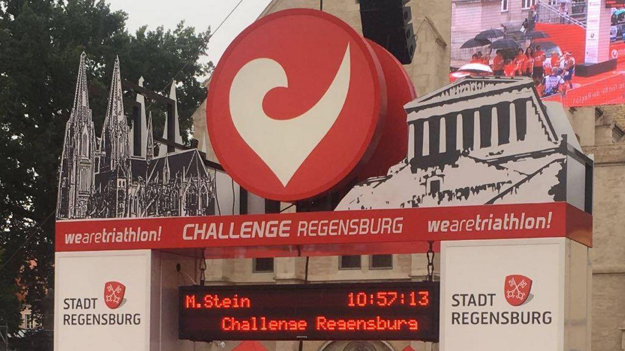 Markus Stein (TV Schweinheim) bei der Challenge Regensburg 2017