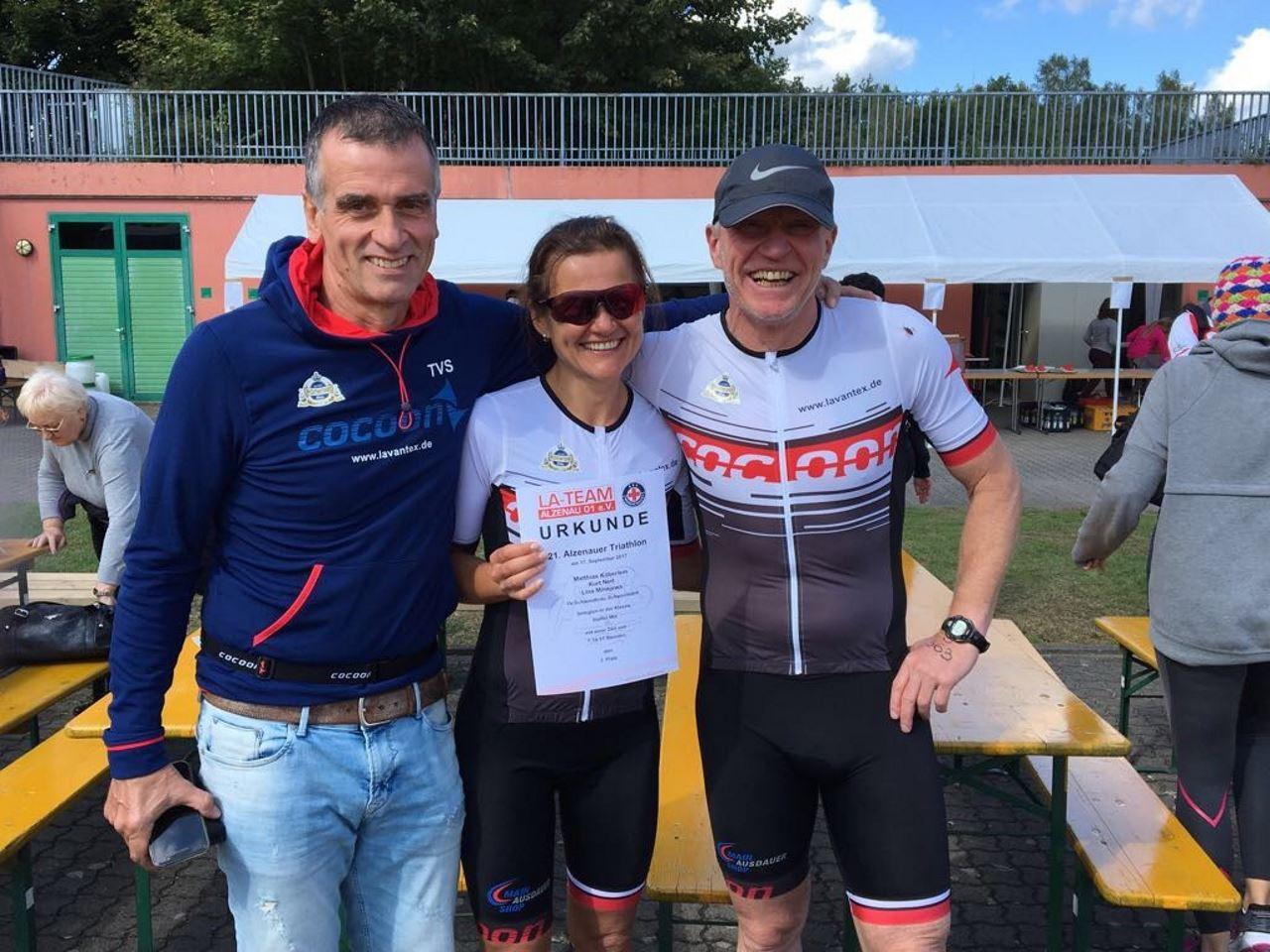 TV Schweinheim Podestplatz beim Triathlon Alzenau 2017