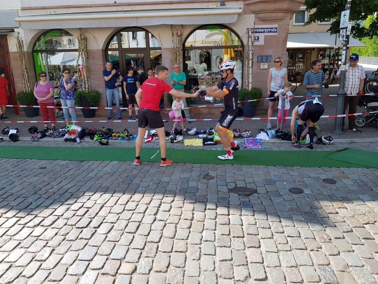 Staffel des TV Schweinheim beim Triathlon Gemünden 2018