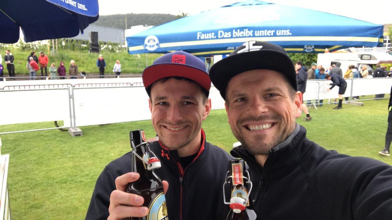 TV Schweinheim Ausdauersport - Andreas Bolczek und Luis Merz beim Mainduathlon in Miltenberg