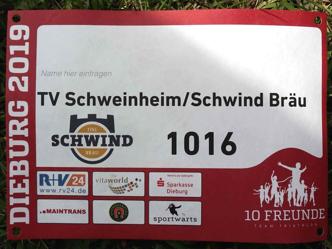 TV Schweinheim beim Zehn-Freinde-Triathlon Dieburg 2019