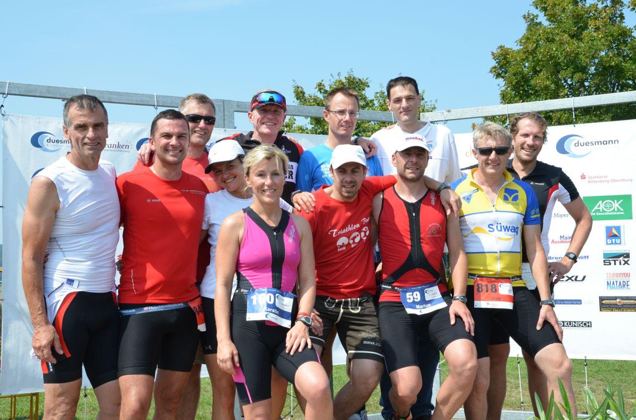 Die Finisher vom TVS beim Churfranken Triathlon 2014