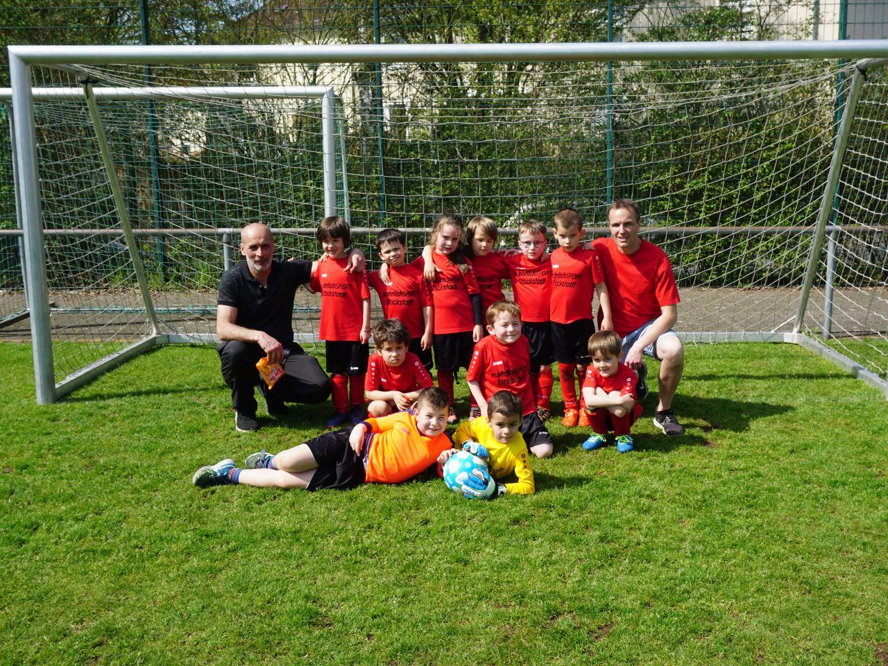 TV Schweinheim Fußball beim Bambini–Spieltag 2018 im Strietwald