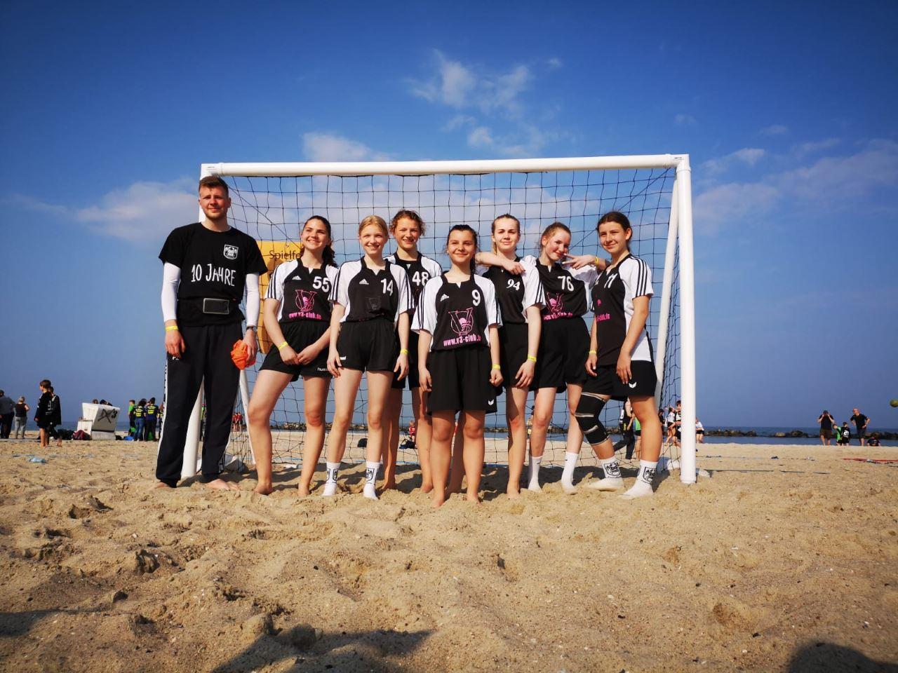 TV Schweinheim / HSG Aschaffenburg weibliche B-Jugend beim Beachhandball Cup in Damp 2019