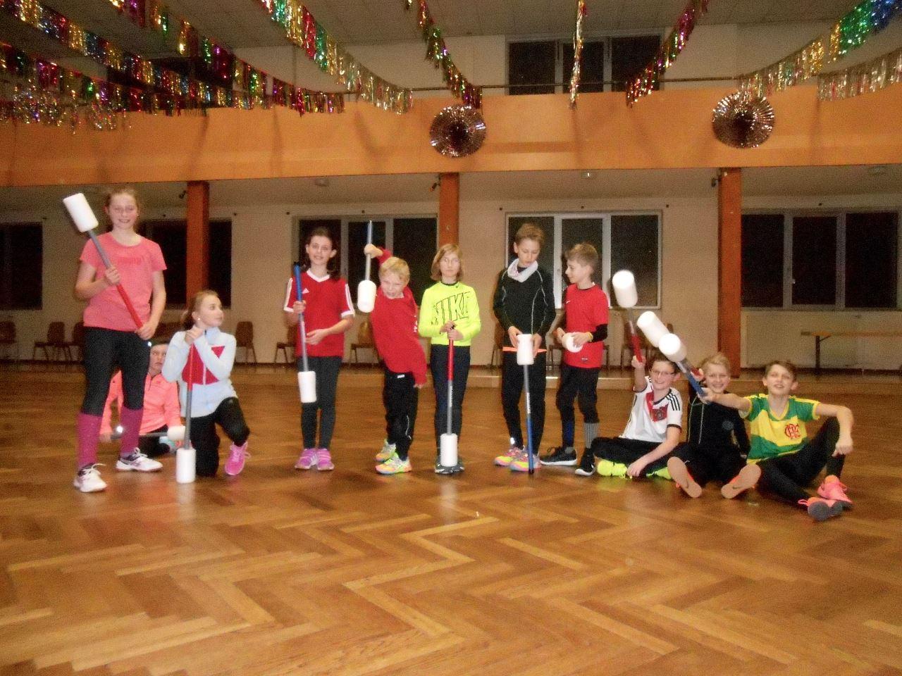 TV Schweinheim Leichtathletik beim Bouncerball-Spiel