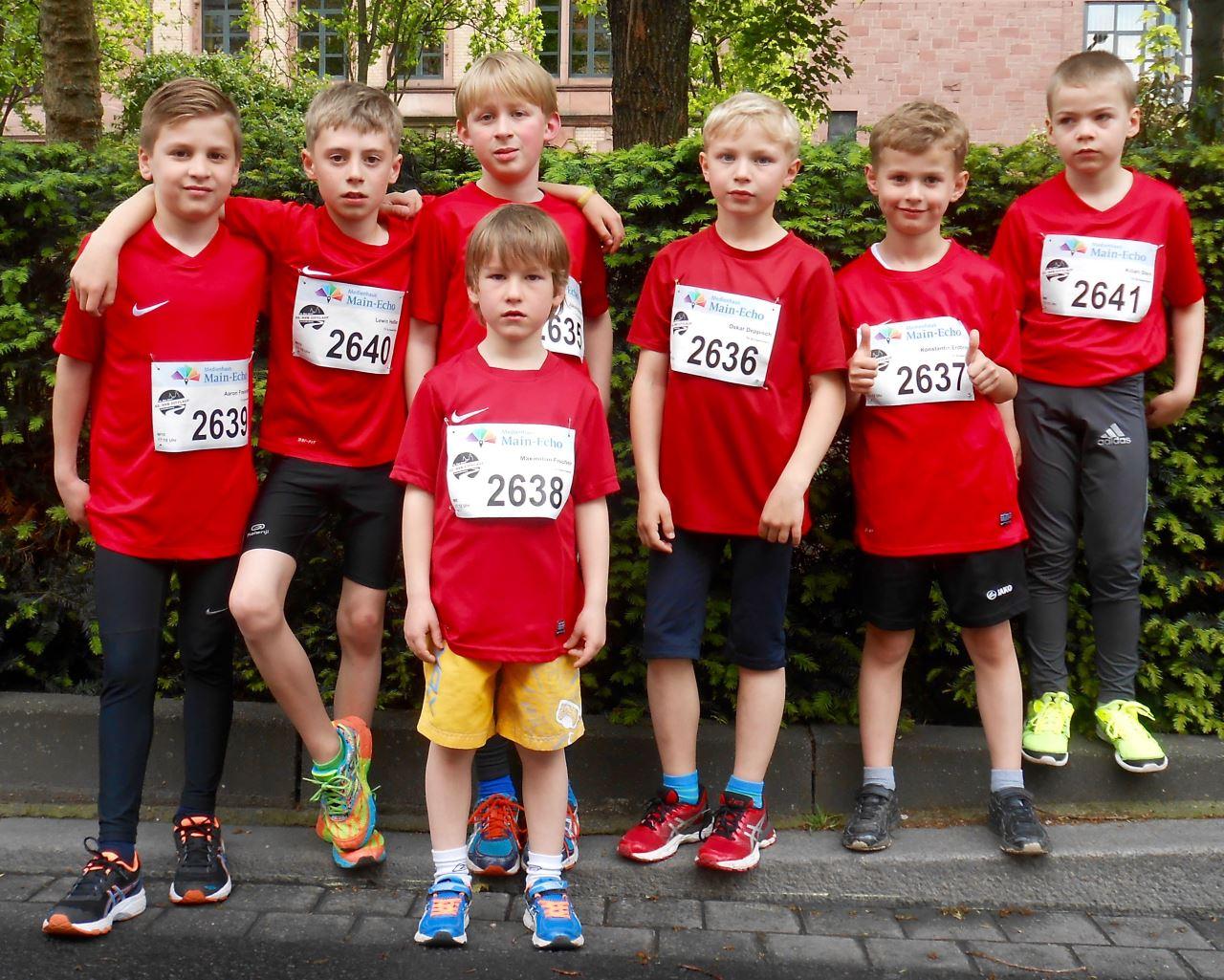 Leichtathleten des TV Schweinheim beim Aschaffenburger Citylauf 2017