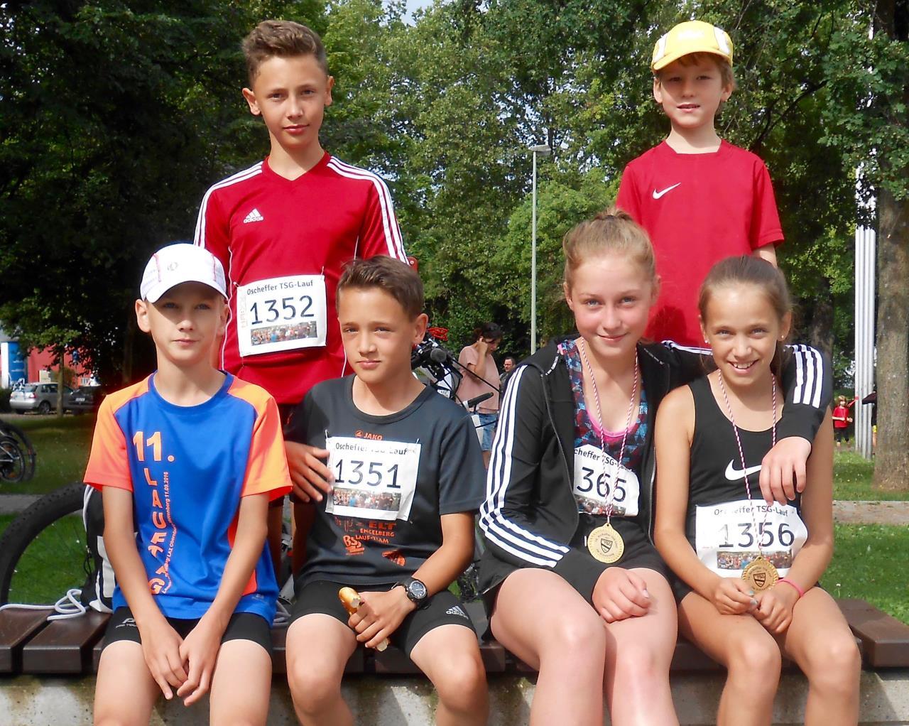 TV Schweinheim Leichtathletik beim Oscheffer TSG-Lauf