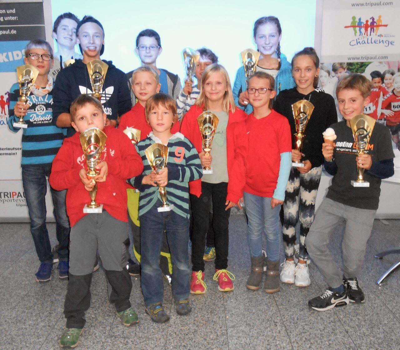 TV Schweinheim Leichtathletik Siegerehrung Main-Echo Kids Cup 2017