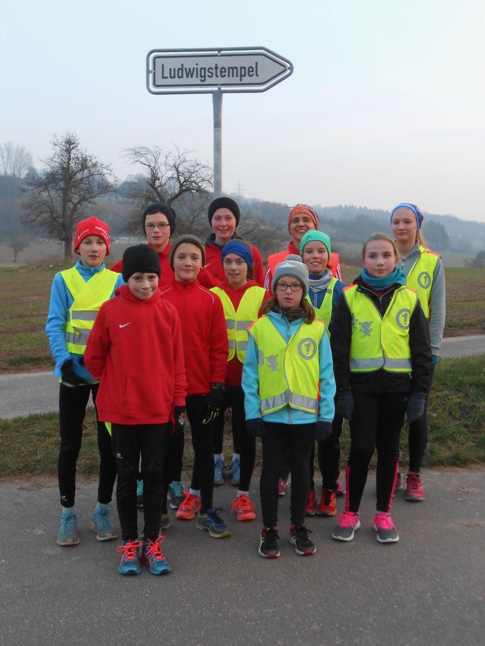 TV Schweinheim Leichtathletik Winter-Lauftraining zum Ludwigstempel 2018