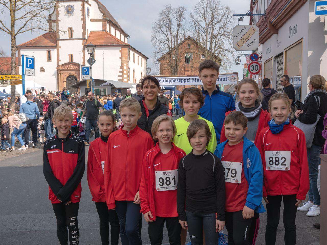 TV Schweinheim beim Marktplatzlauf Großostheim 2019
