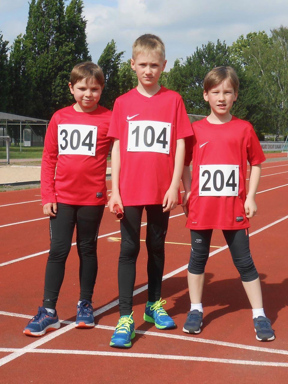 TV Schweinheim Leichtathleten bei der Unterfränkischen Meisterschaft Laingstaffel 2019