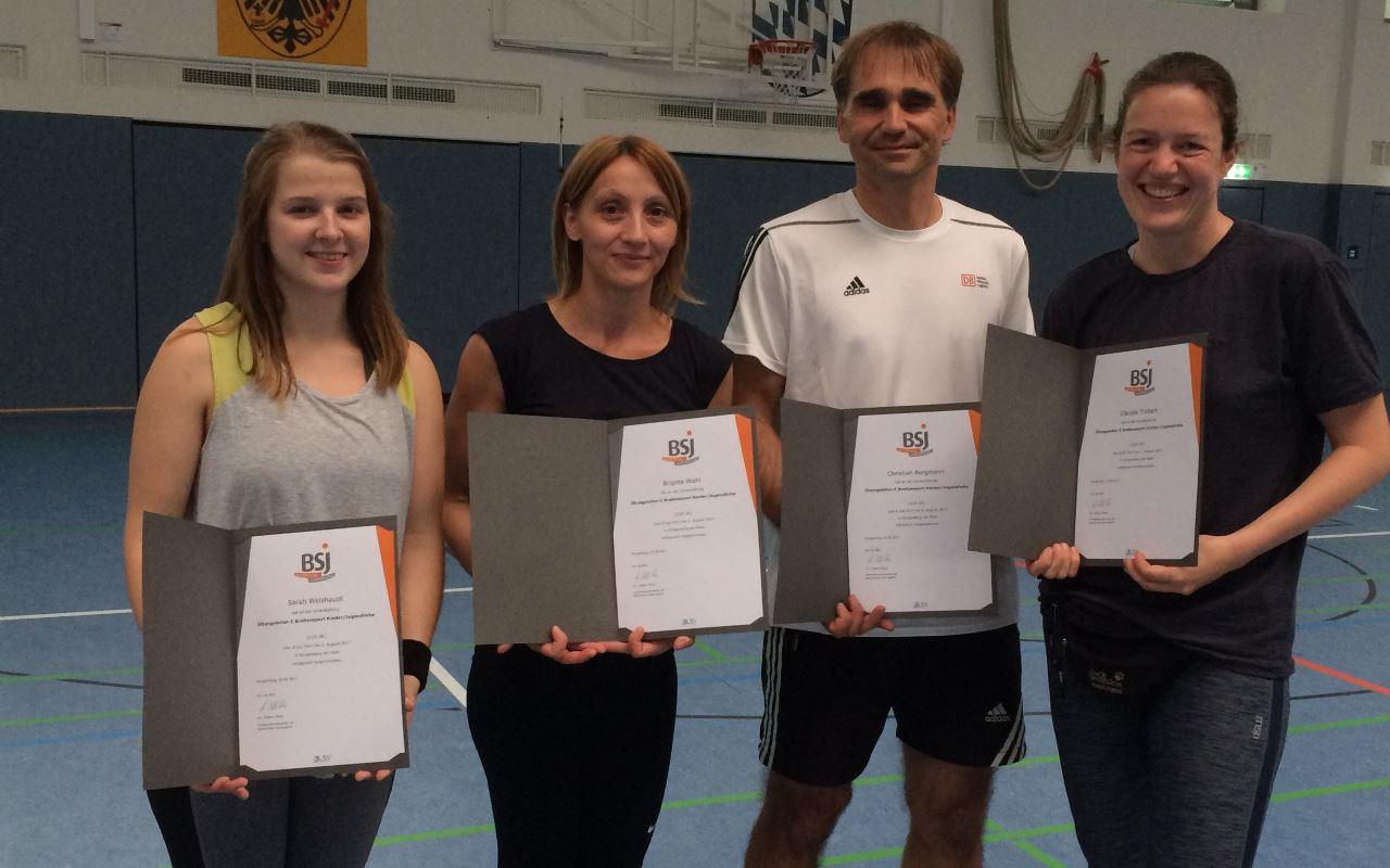 4 neue Übungsleiter beim TV Schweinheim